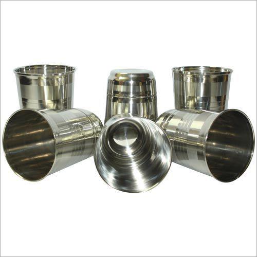 Plain Stainless Steel Glass