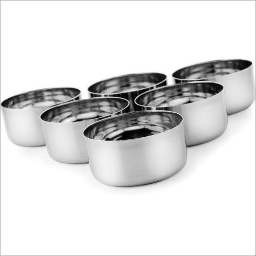 6 Set Stainless Steel Vati