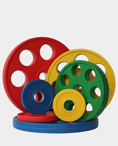 Weight Plates - 7 Hole Coloured Pattern