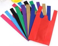 W Cut Plain Non Woven Bag
