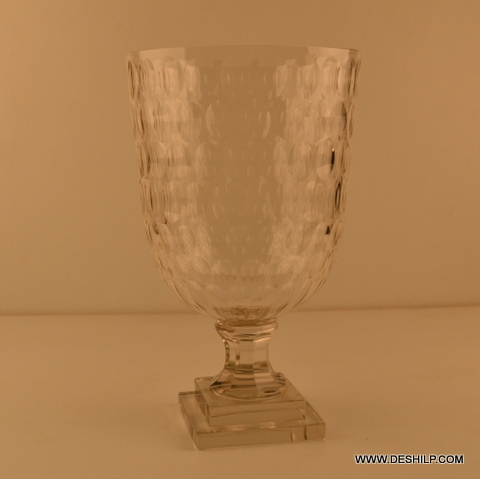 Antique Look Cut Glass Hurricane