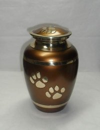 Pot Shaped Pet Cremation Brass Urn