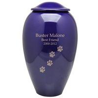 Purple Premium Brass Pet Cremation Urn