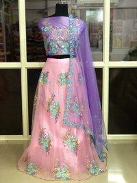 Designer Fancy Pink Lehngha
