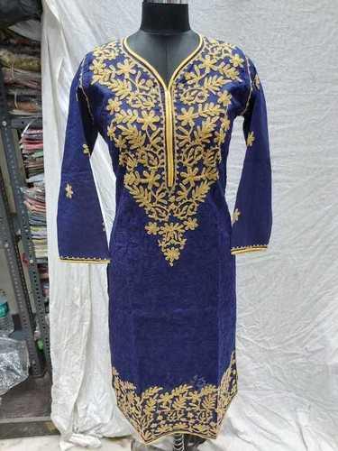 Ladies Cotton Embroidery Long Kurti