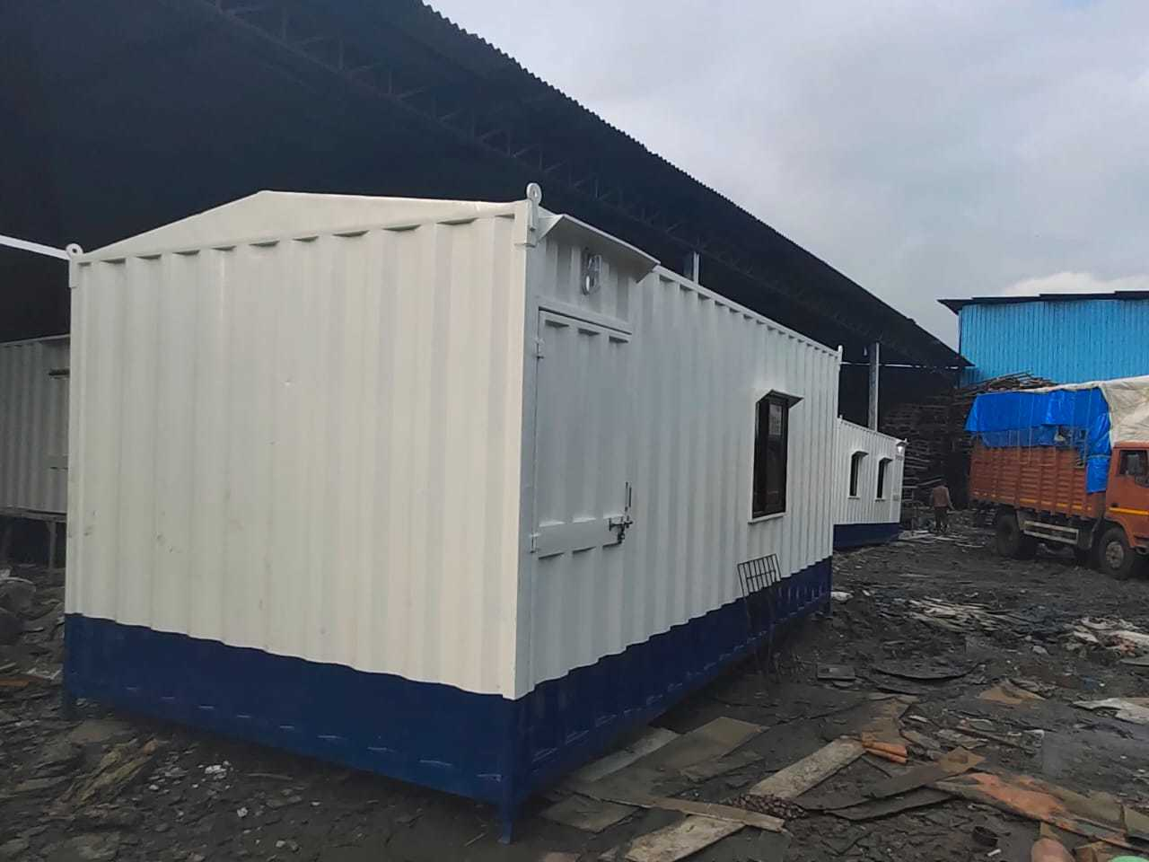 White Steel Portable Cabin