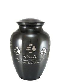 Medium Paw Print Pet Cremation Urn -Engravable