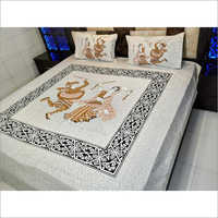 Jaipuri Embroidery Double Bed Sheet