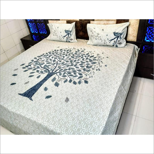 Jaipuri Embroidery Bed Sheet