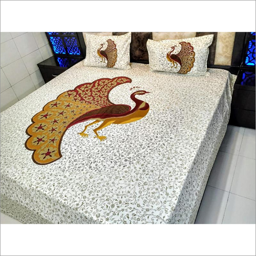 Designer Jaipuri Embroidery Bed Sheet