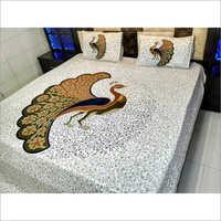 Jaipuri Peacock Print Bedsheets
