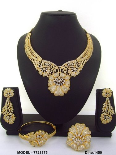 CZ Necklace With Bracelet