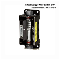 Indicating type flow switch