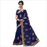 Net Embrodiery Saree