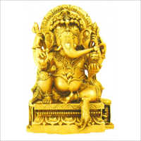 Brass Golden Ganesha Statue