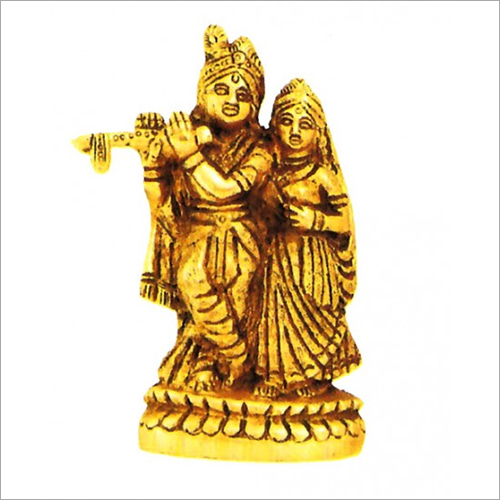 Brass Lord Krishna With Radha Statue