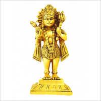 Brass Lord Standing Hanuman Statue