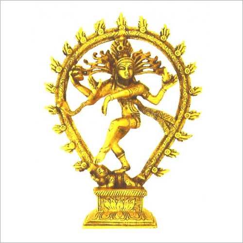 Brass Golden Lord Nataraja Statue