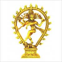 Brass Golden Lord Nataraja Statue