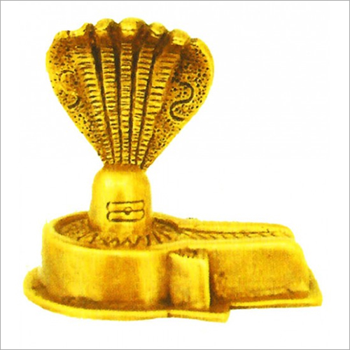 Brass Lord Shiva Lingam With Nagam