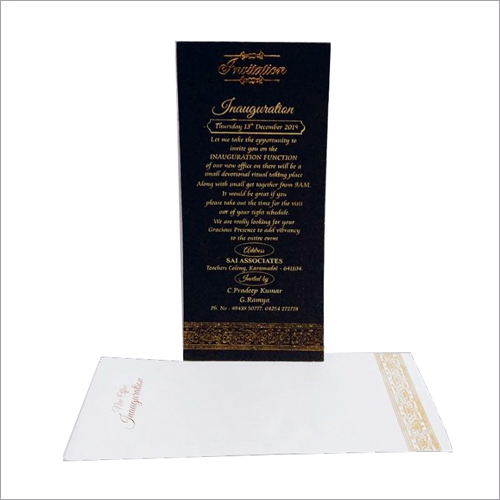 Inauguration Invitation Card