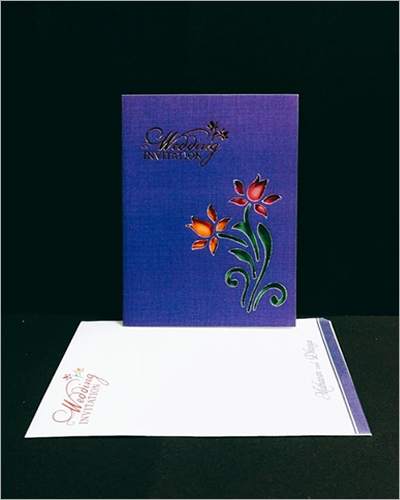 Designer Printed Wedding Card
