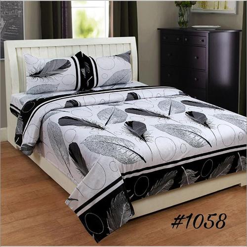 3D Leaf Print Double Bedsheet