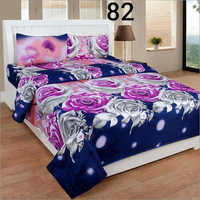 3D Rose Print Double Bedsheet