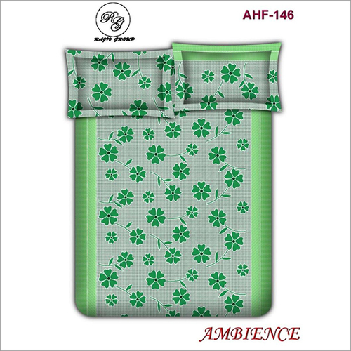 3D Floral Print Double Bedsheet with Pillow Set