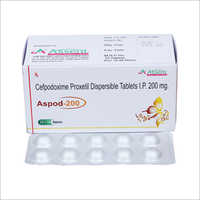 200 mg Cefpodoxime Proxetil Dispersible Tablets IP