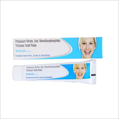 100 gm Potassium Nitrate Sod Monoflurophosphate Triclosan Tooth Paste