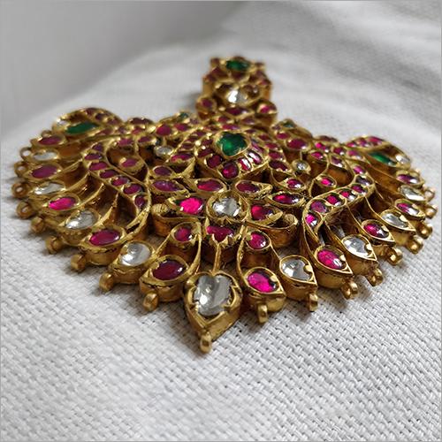 Ladies Kundan Gold Pendant
