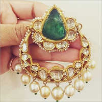 Ladies Gold Kundan Earring
