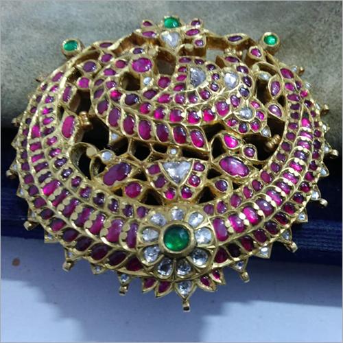 Designer Gold Kundan Pendant