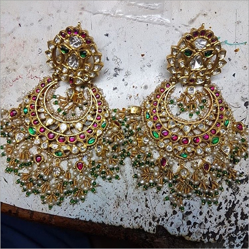 Ladies Designer Gold Earrings