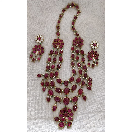 Ladies Ruby Stone Necklace