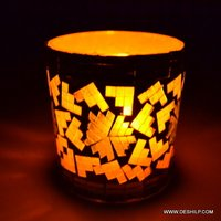 Small Mosaic T Light Candle Holder