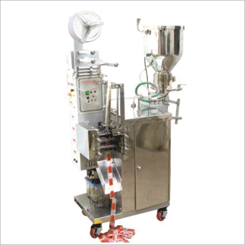 Vertical Liquid Packing Machine For Ketchup Honey With Steam Hopper