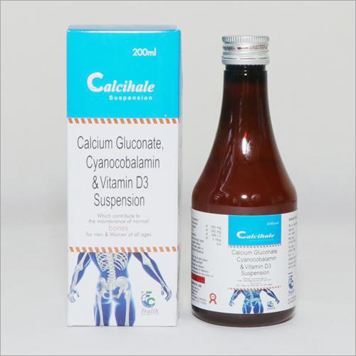 200ml Calcium Gluconate Cyanocobalamin And Vitamin D3 Suspension