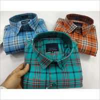 Mens Full Sleeves Check Shirt