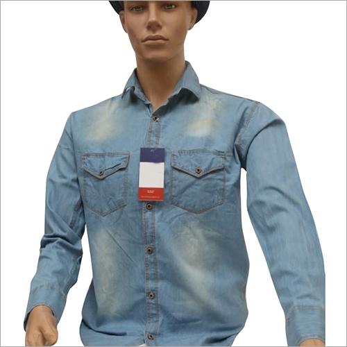 Mens Full Sleeves Denim Shirt