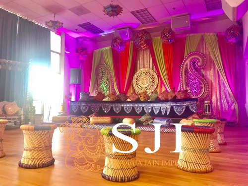 Traditional Punjabi Wedding Mehandi Stage