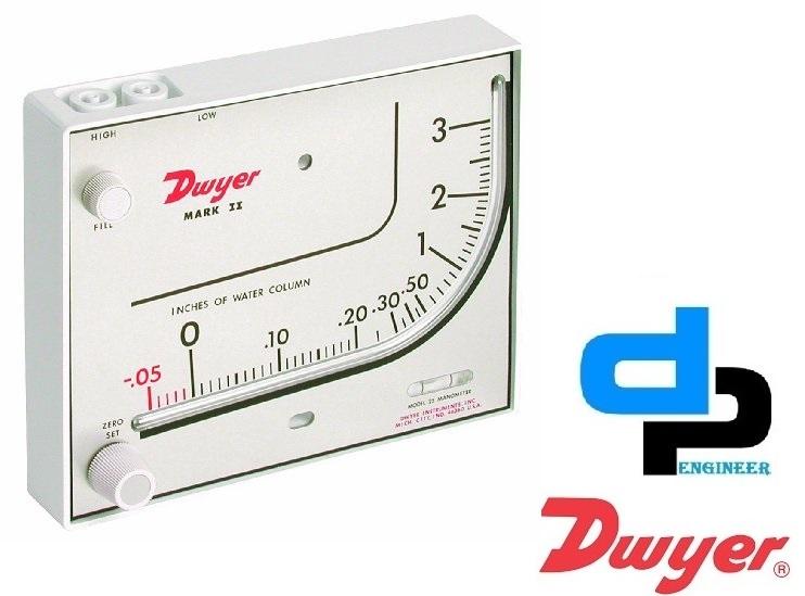 Dwyer Mark II 26 Series Mark II Molded Plastic Manometer