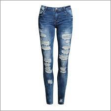 Ladies Ripped Skinny Jeans