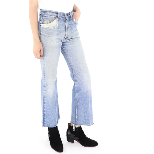 Ladies Blue Bottom Jeans