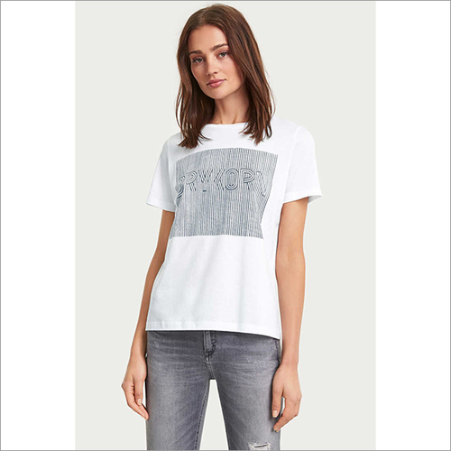 Ladies Printed Round Neck T-shirt