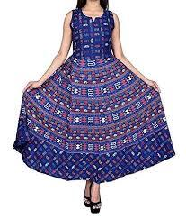 Jaipuri Cotton Long One Piece Dress