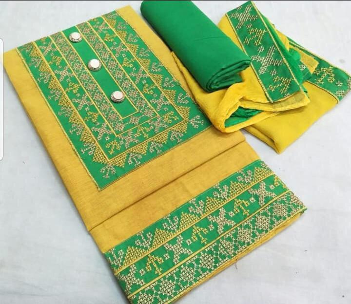 Ladies Cotton Dress Material Fabrics