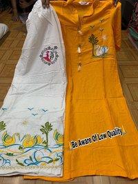 Rayon Fabric Plazo Kurtis