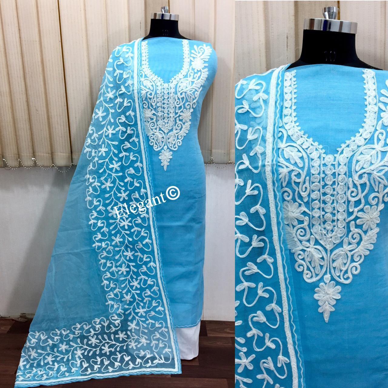 Chanderi dress material